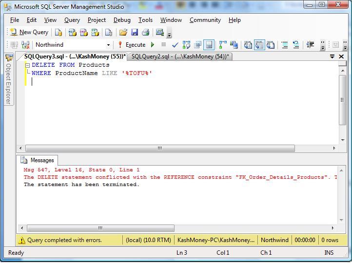 Slacker DBA: SQL STATEMENTS INCLUDING SQL INSERT, SQL